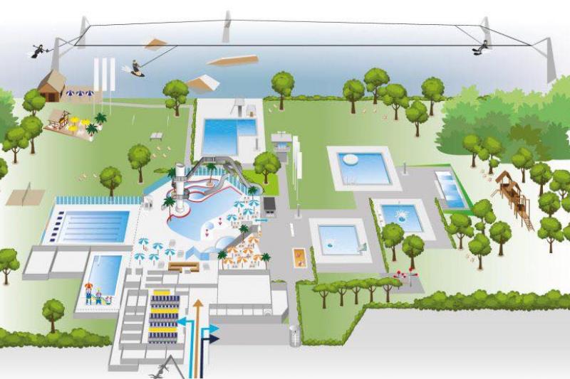 Zwembad De IJzeren Man natuur en recreatiegebied de ijzeren Man Weert